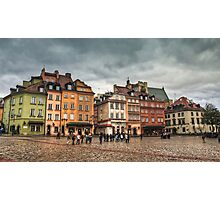 Gloomy Sky Over Warsaw Old Town Photographic Print