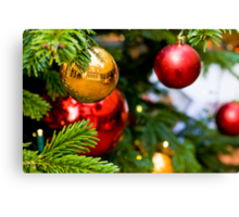 Christmas tree and decorations Canvas Print
