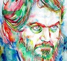 STANLEY KUBRICK watercolor portrait by lautir