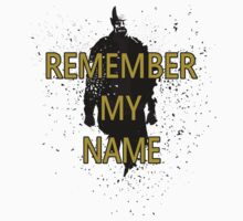 Heisenberg - Remember My Name - Black and Grey w/ text by Loftworks