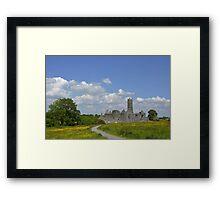 Quin Abbey County Clare Ireland Landmark Scenic Landscape Framed Print
