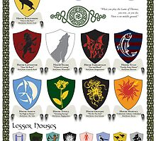 Game of Thrones House Sigils by k8foley