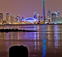 Toronto from island nite 2 by Cristian Gil