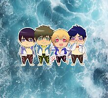 Free! group ipad by yoriuku