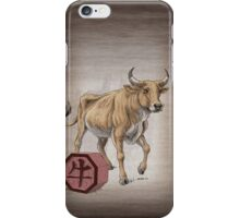 Year of the Ox (for dark shirts) iPhone Case/Skin
