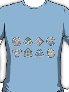 The Sinnoh Gym Badges T-Shirt