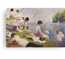 Clockwork Orange Seurat Mashup Canvas Print