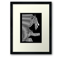 """""""blinded"""" Noir Nude. Photo turned stencil painting. Framed Print"""