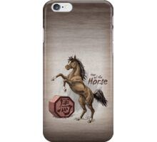 Chinese Zodiac - Year of the Horse iPhone Case/Skin