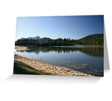 Reflecting on Lake Clarrie Hall.. Greeting Card