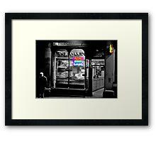 Neon Takeaway Framed Print