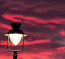Lampost at dusk by Mark Sawyer
