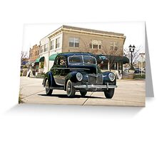 1939 Ford 'Deluxe' Coupe Greeting Card