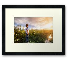 Son Flowers Framed Print