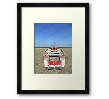 Pasted Journeys - Cley Beach  Framed Print