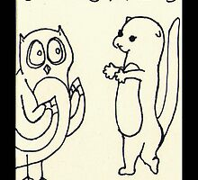 O is for Otters by neuroticowl