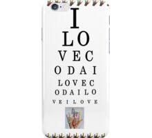 I LOVE CODA Eye Chart iPhone Case/Skin