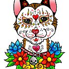 Sugar Skull Cat by ZombieRodent