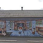 First Mural, Sheffield, Tasmania, Australia by Margaret  Hyde