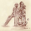 Lydia Greenway - England Womens cricket by Paulette Farrell