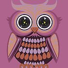 Star Eye Owl - Purple Orange 3 by Adamzworld