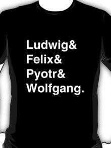 Ludwig & Wolfgang - White Text T-Shirt