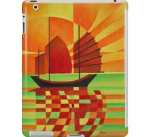 Junk on Sea of Green Cubist Abstract iPad Case/Skin