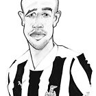 Caricature - Gabriel Obertan by Jan Szymczuk