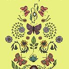 Buon Compleanno Butterflies with yellow background by MADCreations