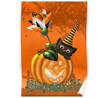 Cheeky Halloween Cat Poster