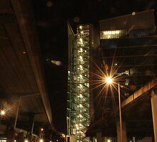 Lighted buildings  by santinopani