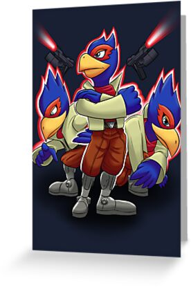 Falco Victory Pose T-Shirt by Skytch