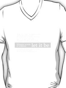 Beatles - Let It Be Lyrics T-Shirt T-Shirt