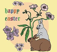 Happy Easter with Yellow Background by MADCreations