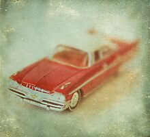 Vintage Cherry Red Chrysler De Soto by Honey Malek