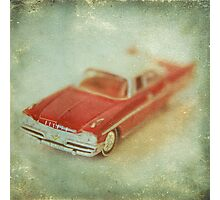 Vintage Cherry Red Chrysler De Soto Photographic Print