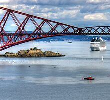 MS Marina off Inchgarvie by Tom Gomez