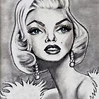 Marilyn Monroe caricature by loflor73