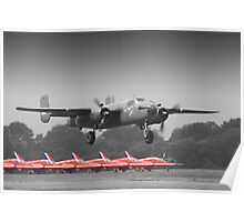 B-25J Mitchell And The Reds - Dunsfold 2013 Poster