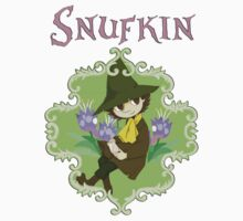 Snufkin In The Flowers by GlitterZombie