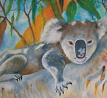 Koala - Just Hanging Around by Glenys Coleman