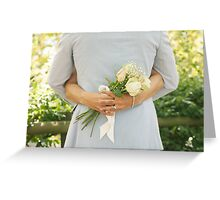 Wedding Couple Embracing Each Other Greeting Card