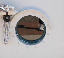 'REFLECTION IN A PORTHOLE!'  Tall Ship Festival, Port Adelaide. by Rita Blom