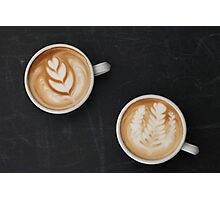 Two Cups of Coffee Photographic Print