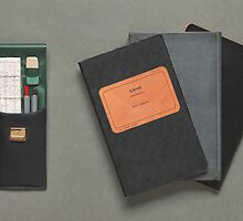 Old-fashioned Notebooks & Drawing Utensils by visualspectrum