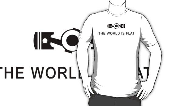 The world is flat Funny Geek Geeks Nerd by porsandi