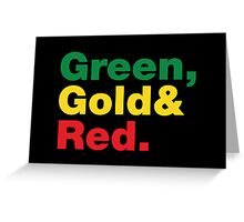Green, Gold & Red. Greeting Card