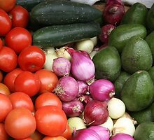 Vegetables at the Otavalo Market by rhamm