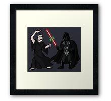 Darth Vader vs Lord Voldemort Framed Print