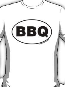 BBQ Oval Sticker T-Shirt